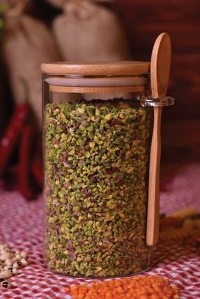 Bambum Lolla - Kaşıklı Cam Saklama Kabı 15 cm