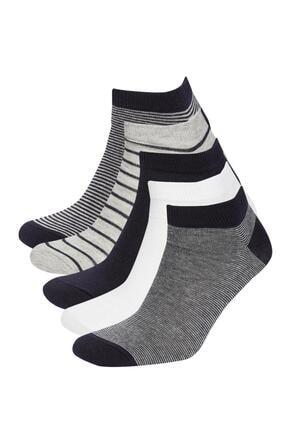 DeFacto Desenli 5'li Kısa Çorap