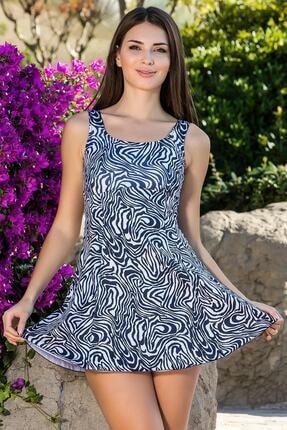 Armes Kadın Laci Beyaz Şortlu Elbise Mayo