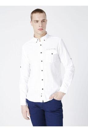 LİMON COMPANY Limon Düğmeli Düz Erkek Gömlek