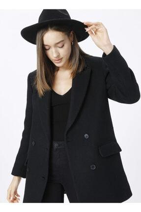 Fabrika Ceket Yaka Basic Siyah Kadın Kaban