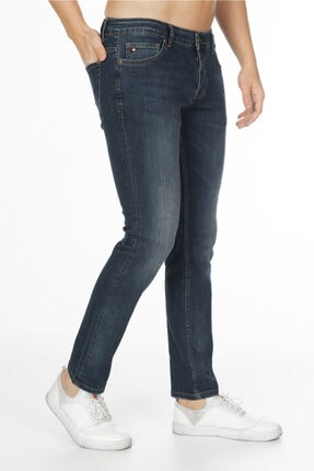CEDY DENIM Erkek Lacivert Kot Pantolon Slim Fit Jean C300