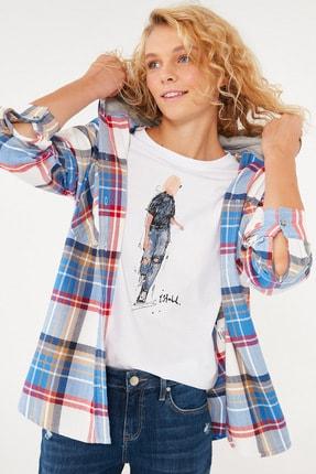 Mavi Kadın Ekoseli Gömlek 122871-35478