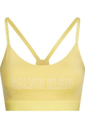 Calvin Klein Kadın Sarı Low Support Sports Bra Sütyen