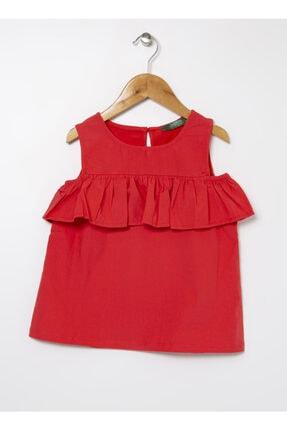 LİMON COMPANY Limon Kız Çocuk Omzu Açık Kırmızı Bluz