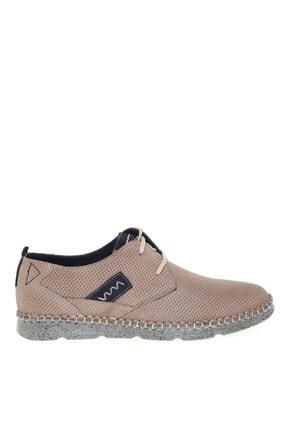 Cotton Bar Kum Rengi Deri Günlük Ayakkabı