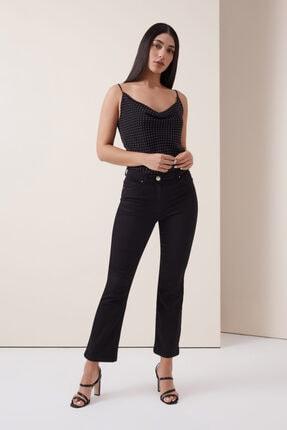 Gusto 5 Cep Boru Paça Pantolon - Siyah