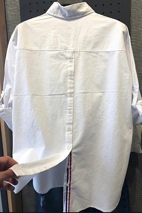 FURKAN EXCLUSIVE Kadın Sırtı Düğmeli Önü Çift Cepli Pamuk Gömlek