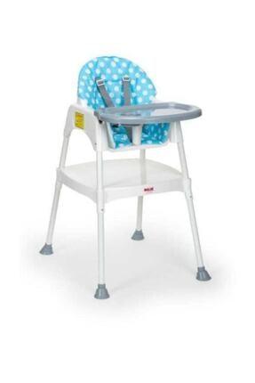 Moje Mavi Çalışma Masalı Portatif Mama Sandalyesi Minderli Set