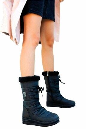 Twingo Kadın Siyah Termal Yünlü Kar Botu - Siyah