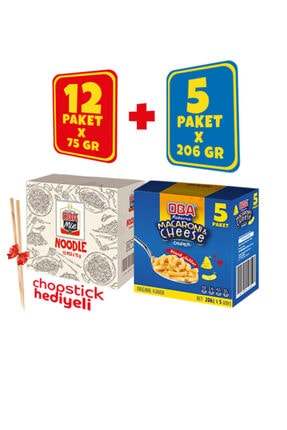 Oba Makarna 5'li Macaroni And Cheese (MAC & CHEESE) 12'li Obamie Noodle Karma Paket