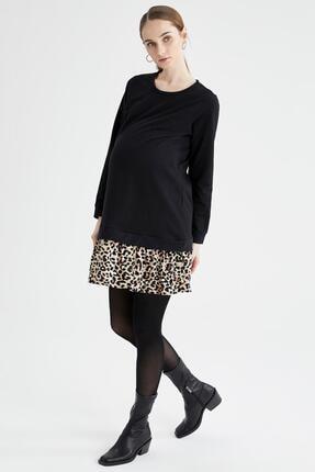 DeFacto Kadın Volanlı Etek Detaylı Balon Kollu Hamile Elbisesi