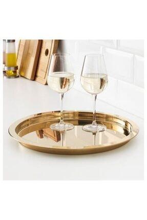 IKEA Sunum Dekor Tepsisi Metal-gold Renk