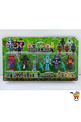 MINECRAFT 4 Avengers Figürlü Tam 12 Parça