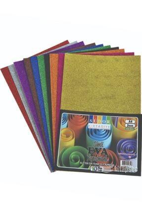 Südor Eva A4 2mm 10 Renk Simli Yapışkanlı