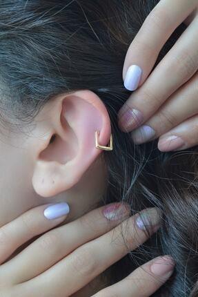 Scarves&Accessories Kadın Kare Model Halka Piercing Tragus Helix Kıkırdak Küpesi