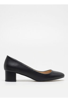 F By Fabrika Siyah Topuklu Ayakkabı