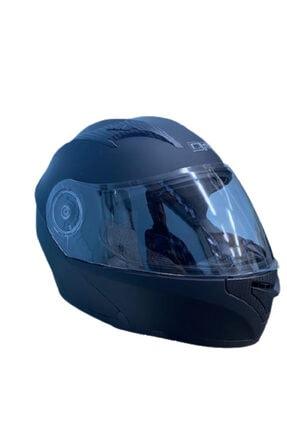 DFG Çene Açılır Mat Siyah Güneş Vizörlü Motosiklet Kaskı