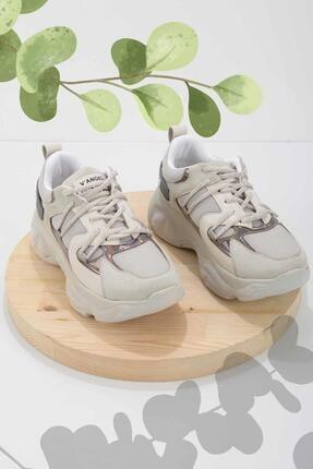 Bambi Gri File Kadın Sneaker K01969031722