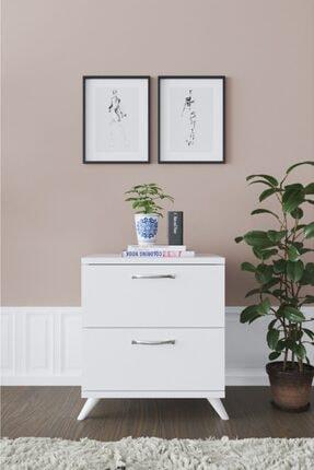 Haus Modüler Haus 2 Çekmeceli Ayaklı Komodin - Beyaz