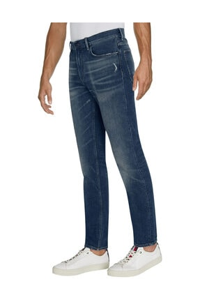 Tommy Hilfiger Erkek Denim Jeans Tapered Houston Str Estill Worn MW0MW15952
