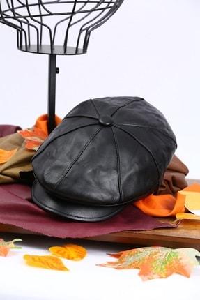 ÜN ŞAPKA Hakiki Deri Kasket Şapka
