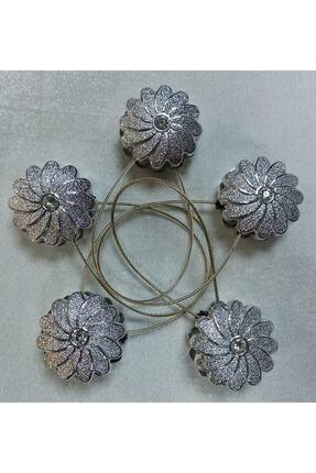 Helezoni Mıknatıslı Perde Mandalı Gümüş Renk 5 Adet