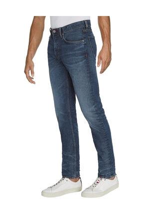 Tommy Hilfiger Erkek Denim Jeans Tapered Houston Pstr Gilt Blue MW0MW15961