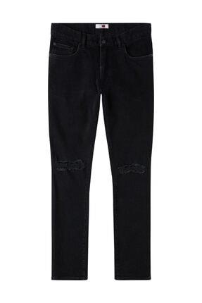 Tommy Hilfiger Erkek Denim Jeans Lh Black Denim MW0MW09384