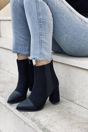 Stepsup Store Siyah Cilt Fermuarlı Kadın Bot