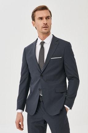 ALTINYILDIZ CLASSICS Erkek Antrasit Ekstra Slim Fit Pötikareli Antrasit Takım Elbise
