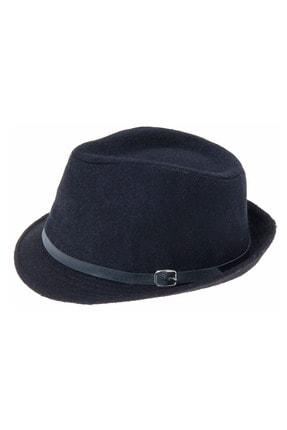 Bay Şapkacı Kadın Çift Renk Kaşe Fötr Şapka 4792 Siyah