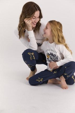 BSM Aile Anne Kız Kombin Krem Pijama Takım 1428 (anne Ve Kız Fiyatları Farklıdır)