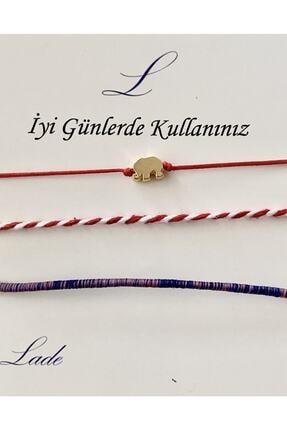 Lade Filli Kırmızı İpli Şans Bilekliği,  Marteniçka ve Kırçıllı İp  Set