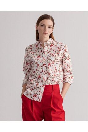 Gant Kadın Beyaz Regular Fit Gömlek