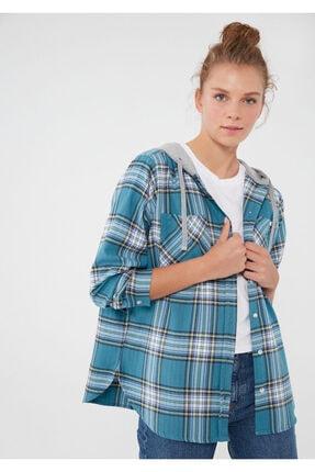 Mavi Kadın Mavi Ekoseli Gömlek 122871-35232