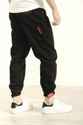 Oksit Erkek Siyah Craig Paçası Ribanalı Askı Detaylı Jean Pantolon