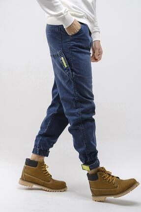 Oksit Craig Paçası Ribanalı Askı Detaylı Erkek Jean Pantolon