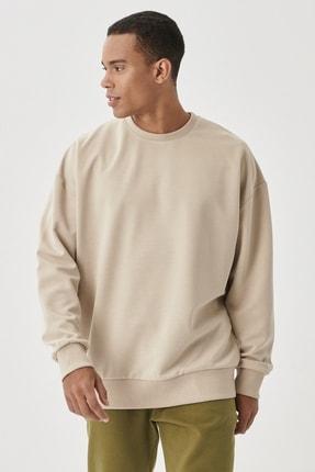 AC&Co / Altınyıldız Classics Günlük Rahat Sıfır Yaka Oversize Spor Sweatshirt