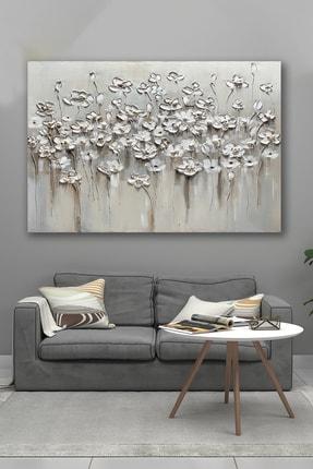 Hediyeler Kapında 50x70 Soğuk Çiçekler Kanvas Tablo