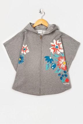 U.S. Polo Assn. Gri Kız Çocuk Sweatshirt