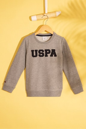U.S. Polo Assn. Gri Erkek Çocuk Sweatshirt