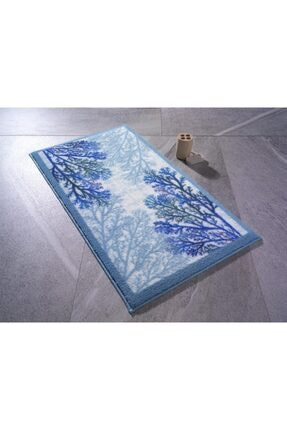 Confetti Coral 57x100 Mavi Banyo Halısı