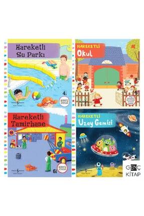 İş Bankası Kültür Yayınları Iş Bankası 2-5 Yaş Arası Ciltli Hareketli Kitaplar Hareketli Su Parkı Okul Tamirhane Uzay Gemisi
