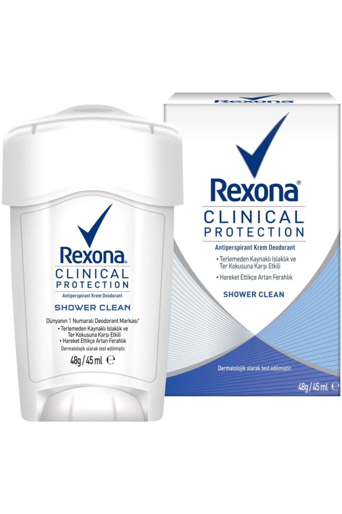 Rexona Clinical Protection Shower Clean Stick Deodorant 45 Ml 1
