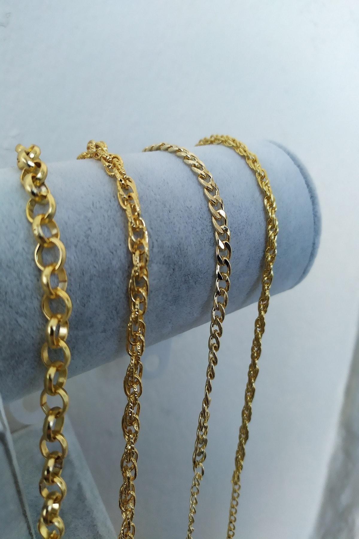 KOBA Kadın Altın Kaplama Dörtlü Kombin Bileklik 1