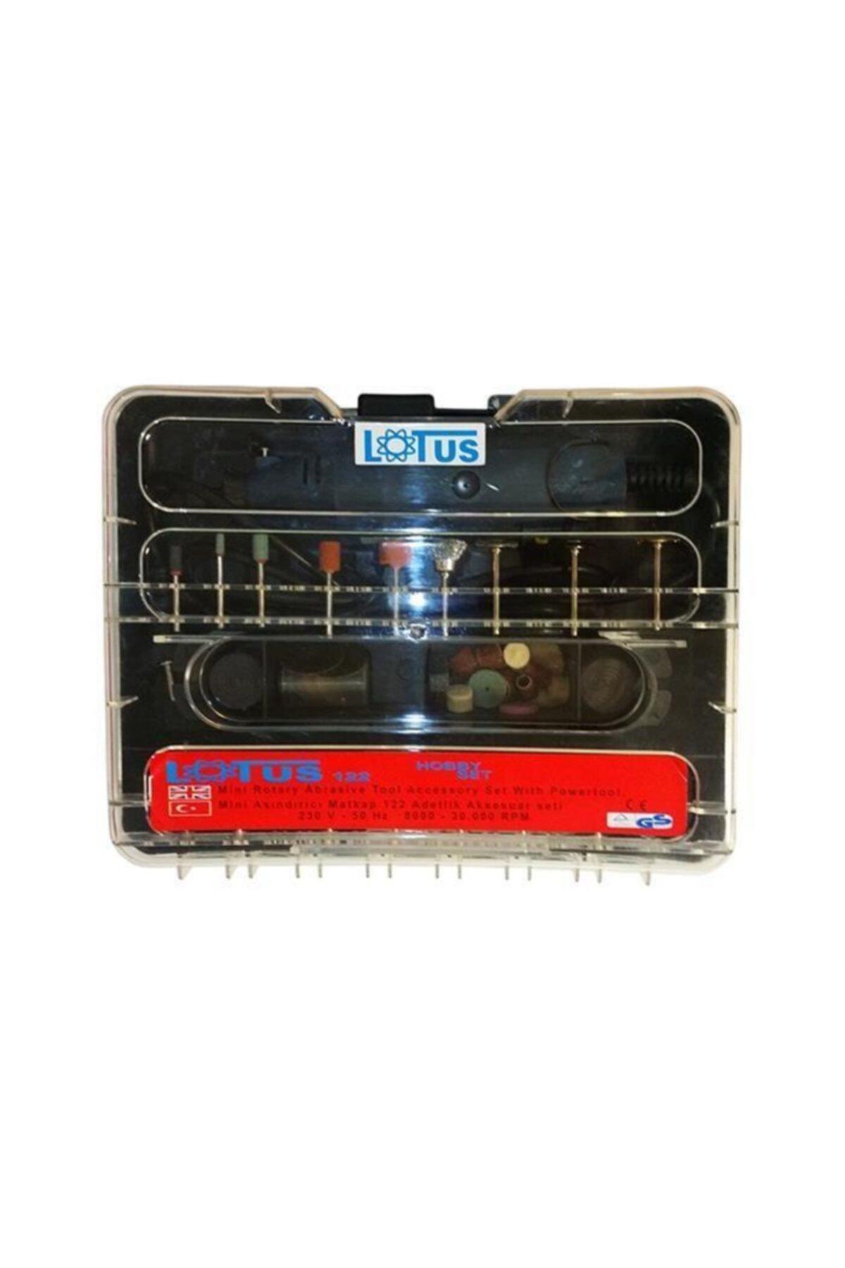 Lotus 122 Parçalı Mini Matkap Gravür Hobi Seti Plastik Kutulu 1