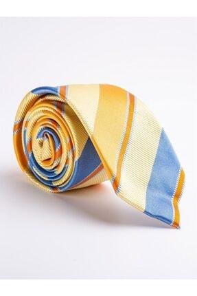 Dufy Sarı Ipek Erkek Kravat