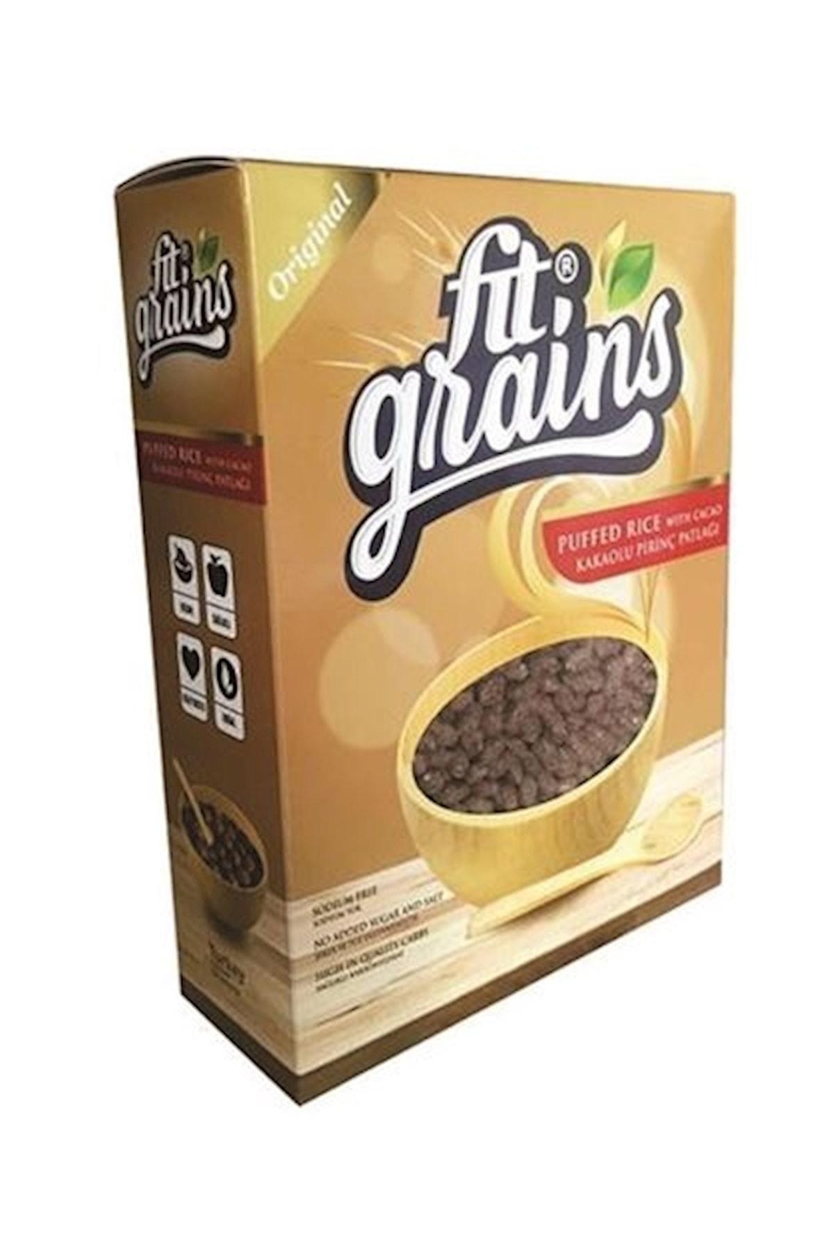 Fit Grains Kakaolu Pirinç Patlağı Şekersiz 300 Gr 1