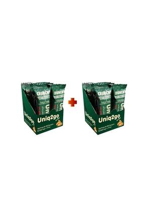 Uniq2Go In Love - Fıstık Ezmeli Proteinli Bar 12'li Kutu 2x Adet Kutu Içi Toplam 24 Adet